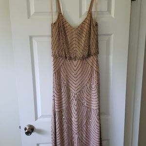 Adrianna Papel Beaded Blush Bridesmaid Dress